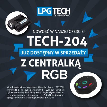 TECH-204 już dostępny w sprzedaży wraz z cyfrową centralką RGB.